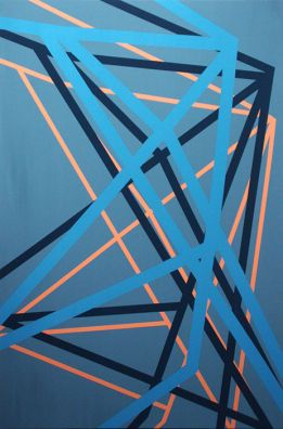 Title Blue 2211		<br> Medium acrylic on birch plywood		<br> Dimensions 122 x 76 cm	<br> Price € 2000