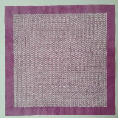 purple lace 4<br> 34-34cm<br>gouache on Chinese cotton paper<br> Price 800 euro