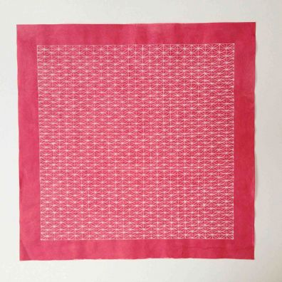 deep pink lace <br>34-34cm<br>gouache on Chinese cotton paper<br>Price 800 euro