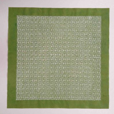 green lace <br>30-30cm<br>gouache on Chinese cotton paper<br> Price 800 euro